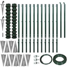 Set gard plasă de sârmă cu ancore țăruși 1,97 x 25 m verde