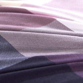 Set husă pilotă 4 piese Carouri Violet 140x200/60x70 cm