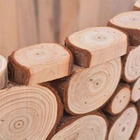 Set jardiniere, 2 buc., lemn natural