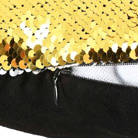 Set perne cu paiete, 2 buc., 45 x 45 cm, auriu și argintiu