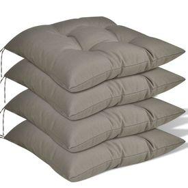 Set perne de scaun, 4 buc, 40 x 40 x 8 cm, maro