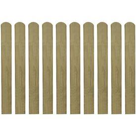Șipci de gard din lemn tratat, 20 buc., 80 cm, lemn FSC