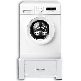 Stativ mașină de spălat cu sertar, alb