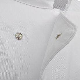 Tunici pentru bucătari mânecă lungă, mărime XXL, alb, 2 buc.