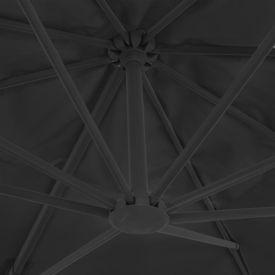 Umbrelă de exterior cu bază portabilă, antracit