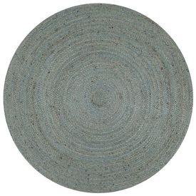 vidaXL Covor manual, verde măsliniu, 90 cm, iută, rotund