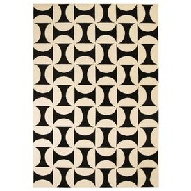 vidaXL Covor modern Design geometric 180 x 280 cm Bej/negru