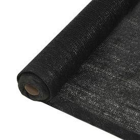 vidaXL Plasă protecție vizuală, negru, 1 x 10 m, HDPE