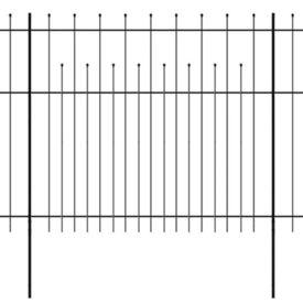 Gard de protecție ornamental tip palisadă, oțel, 600 x 175 cm