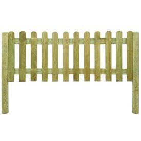 6 metri de gard din lemn cu stâlpi, înălțime 80 cm