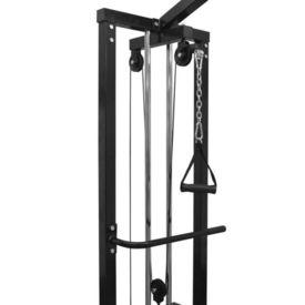 Aparat Fitness Crossover cu cablu, 315 cm, negru