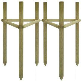 Arac pentru copaci, 2 buc., lemn de pin tratat, 50x45x150 cm