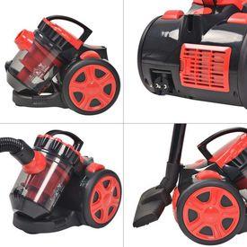 Aspirator Multicyclone fără sac, pentru podea și covor, roșu