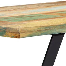 Bancă, 160 cm, lemn masiv reciclat