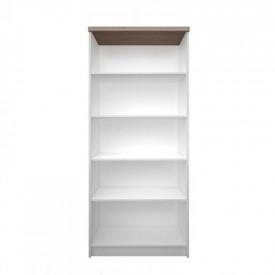 Biblioteca inalta deschisa 80 PAL melaminat alb/stejar sonoma GL TOPTY