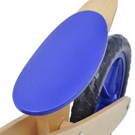 Bicicletă pentru echilibru din lemn, Albastru