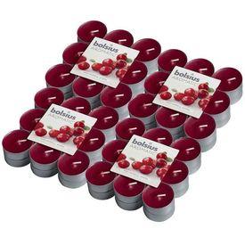 Bolsius Lumânări de ceai parfumate 72 buc., merișoare 103626949389