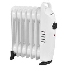 Calorifer electric cu ulei AAEH-8521, 31,5 x 13,4 x 37 cm, 700 W, 230 V, Polipropilena/pulbere otel sinterizat, alb cu 7 elementi, termostat reglabil in trepte