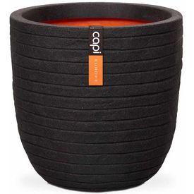 """Capi Jardinieră în formă de ou """"Nature Row"""" negru, 35x34 cm, PKBLRO932"""