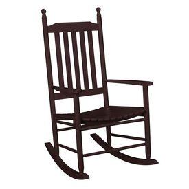 [casa.pro]®.Scaun balansoar, comod,din lemn maro lacuit