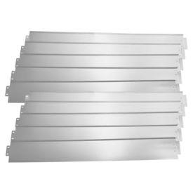 [casa.pro]® Set 10 bucati bordura decorativa pentru gradina - 10m - argintiu