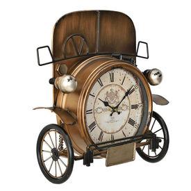 Ceas design de perete - Model 16 Masina de epoca, metal/sticla/MDF, 33 x 13 x 36 cm, multicolor