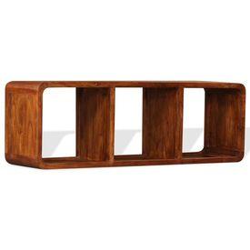 Comodă TV, lemn masiv cu finisaj din sheesham, 120 x 30 x 40 cm