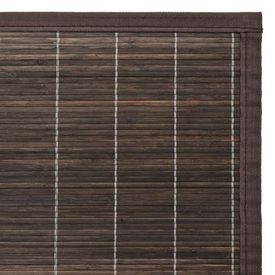 Covor din bambus 80 x 200 cm Maro închis