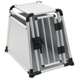 Cutie de transport pentru câini aluminiu M