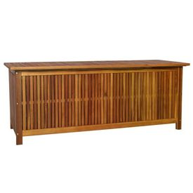 Cutie depozitare exterior, lemn masiv de salcâm, 150x50x58 cm