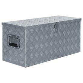 Cutie din aluminiu, 90,5 x 35 x 40 cm, argintiu