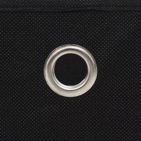 Cutii depozitare, 10 buc, material nețesut, 32x32x32 cm, Negru