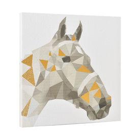 Design fotografie de perete imprimata pe hartie pergament - cal - cu rama ascunsa - 40x40x2,8cm