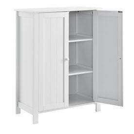 Dulap baie AANT-0336 cu 3 rafturi, 80 x 60 x 30 cm, placa MDF, lacuit, alb