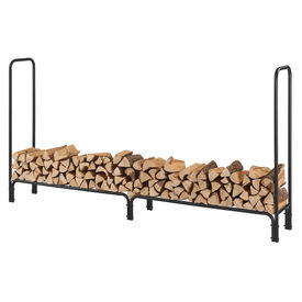 [en.casa]® Stove AAFR-6609 Suport lemne pentru sobe si seminee, 240 x 123 x 35 cm, 400 kg, otel, negru