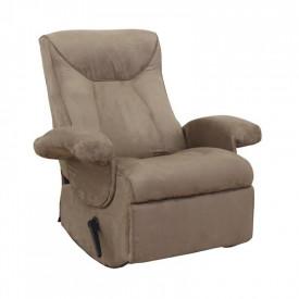 Fotoliu relaxant cu functie electrica de vibratie textil gri maronie GL SUAREZ