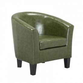 Fotoliu relaxant piele ecologica verde GL MARTY
