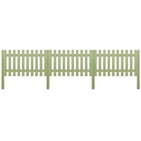 Gard din țăruși, lemn de pin tratat, 5,1 m 150 cm 6/9cm