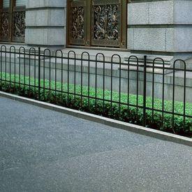 Gard metalic decorativ cu inele din oțel 80 cm, Negru