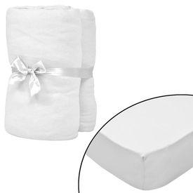 Husă de pat cu apă 2 buc., 200 x 220 cm, bumbac jerseu, alb