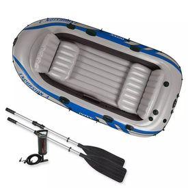 Intex Set barcă gonflabilă Excursion 4 cu vâsle și pompă, 68324NP