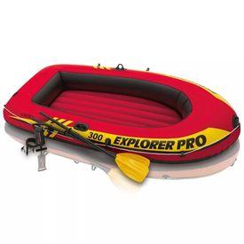 Intex Set barcă gonflabilă Explorer Pro 300 cu vâsle și pompă, 58358NP
