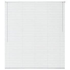 Jaluzele pentru ferestre, aluminiu, 80 x 130 cm, alb