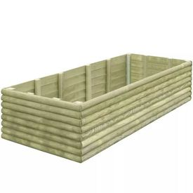Jardinieră de grădină din lemn de pin tratat, 197 x 106 x 48 cm