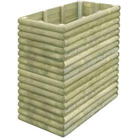 Jardinieră din lemn de pin tratat pentru grădină 106x56x96 cm