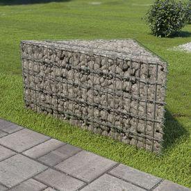 Jardinieră gabion, 75x75x50 cm, oțel galvanizat