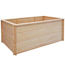 Jardinieră pentru grădină 200 x 100 x 80 cm, lemn de pin, 19 mm