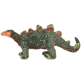 Jucărie de pluș dinozaur Stegosaurus, verde și portocaliu XXL