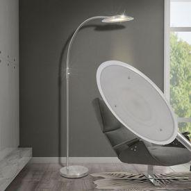 Lampă arcuită de podea cu LED-uri și intensitate variabilă 18 W