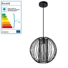 Lampa suspendata design decorativ – lampa plafon - Oslo 155 x Ø 28 cm, negru (1 x E27)